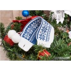 Манжета на кружку Снежный хоровод синего цвета