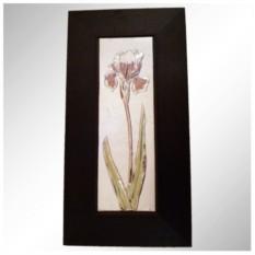 Декоративное панно в деревянной рамке Чудесные ирисы