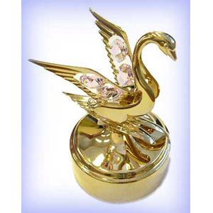 Фигурка декоративная «Лебедь» на подставке 11 см