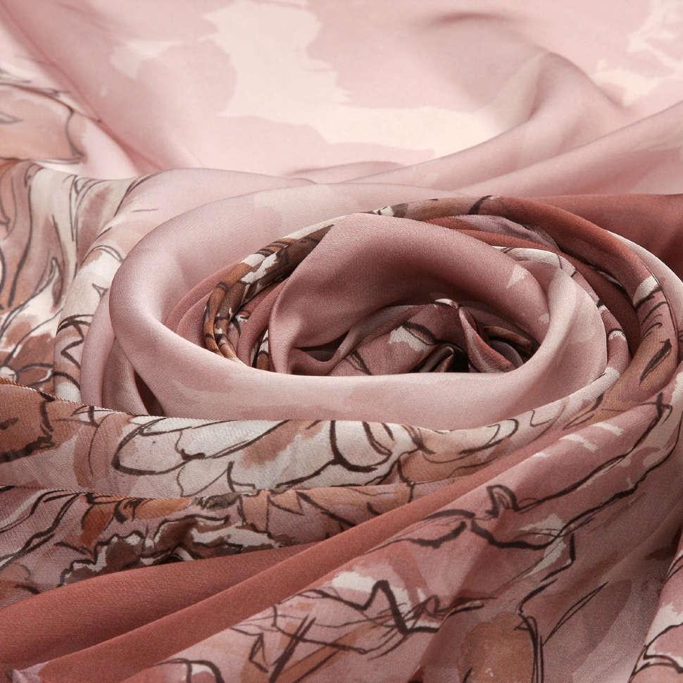 Легкий шелковый женский шарф с узором Valentino
