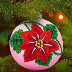 Елочная игрушка «Рождественский цветок»