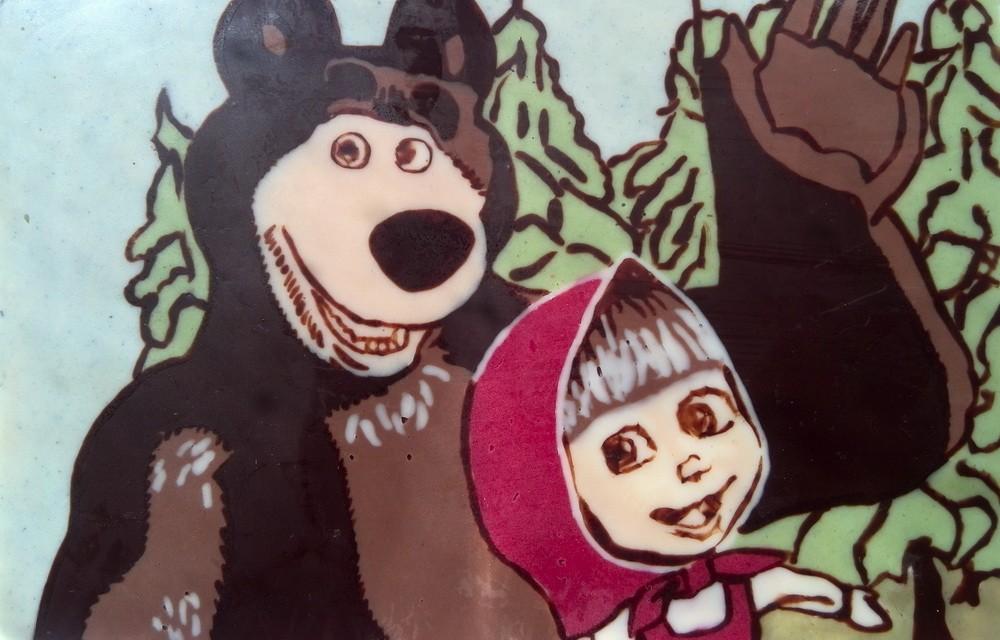 Картина из шоколада Маша и медведь