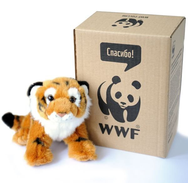Плюшевый амурский тигр WWF