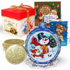 Набор с новогодней свечой «Веселый снеговик»