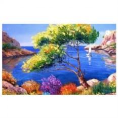 Картина-раскраска по номерам на холсте У синего моря