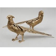 Бронзовая статуэтка Пара влюблённых фазанов