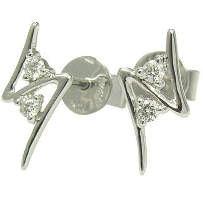 Серьги  с 4 бриллиантами