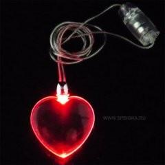 Светодиодная подвеска сердце