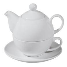 Белый чайный набор «Эгоист»