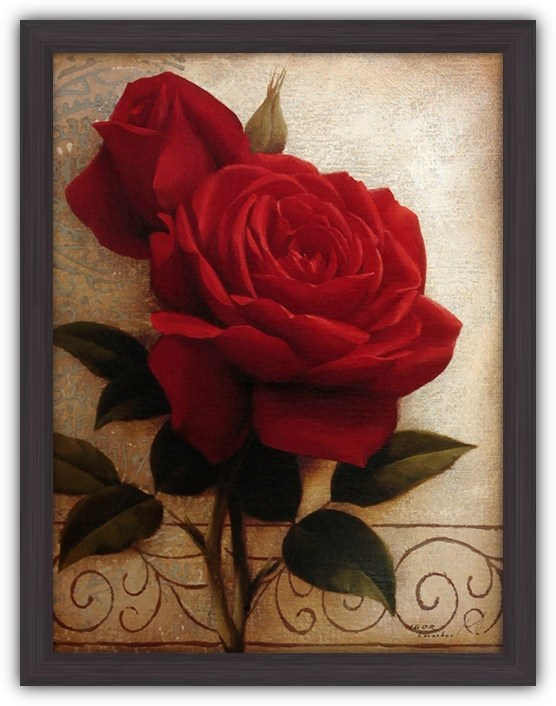 Постер Декоративные розы I (Красные розы)