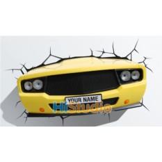Пробивной 3D светильник Авто желтое