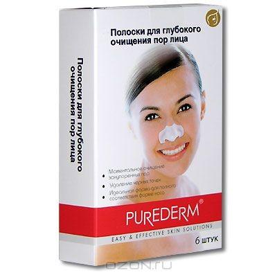 Полоски Purederm для глубокого очищения пор лица, 6 шт