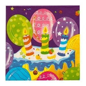 Салфетки Birthday candles