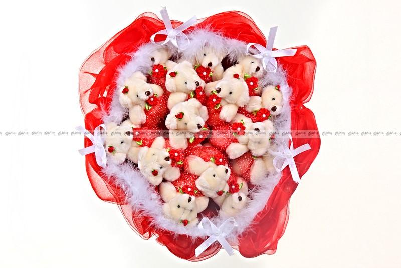 Букет из игрушек Сахарная вата и фруктовый лёд