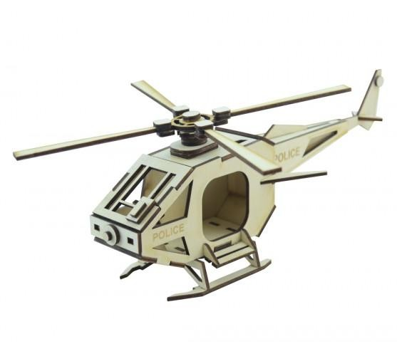 3D конструктор Вертолет Police
