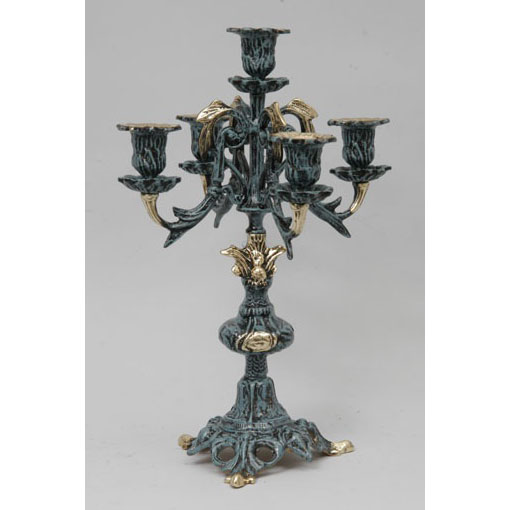 Пара канделябров на 5 свечей из бронзы Virtus 4222