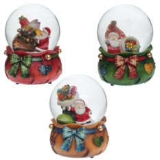 Декоративная фигурка в стеклянном шаре Санта