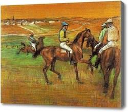 Репродукция картины Скаковые лошади