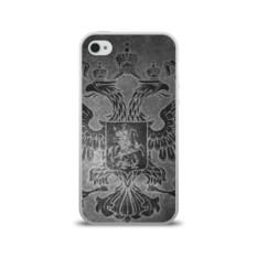 Силиконовый чехол для Apple iPhone 4S Герб России