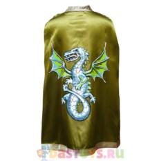 Детский зеленый плащ с драконом