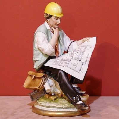 Статуэтка фарфоровая Строитель Porcellane Principe