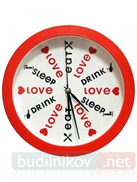 Настенные античасы Eat, Love, Sleep