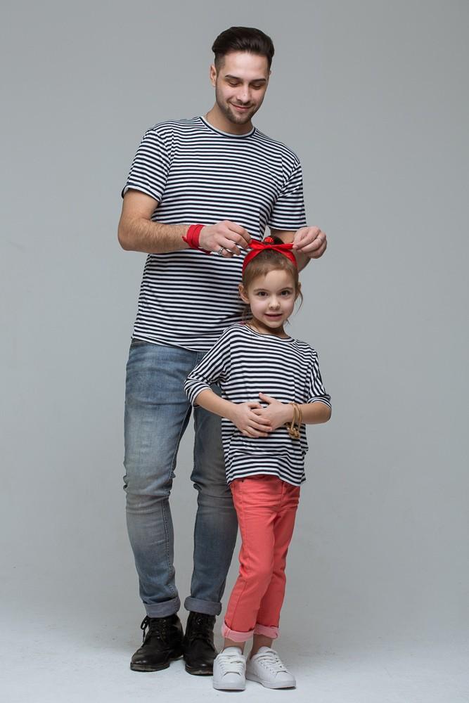 Комплект полосатых футболок Majorca для папы и дочки