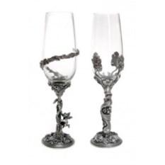Набор бокалов с серебрением Он и она