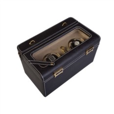 Черная шкатулка для наручных часов Lotus