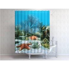 Штора для ванной Подводное царство