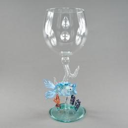 Бокал для вина «Рыбка на голубом коралле»