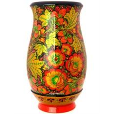 Деревянная ваза хохлома Узоры