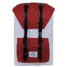 Большой красный с белым городской рюкзак Сердце
