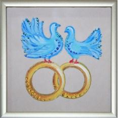 Картина с кристаллами Swarovski Бракосочетание