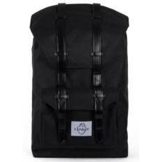 Большой черный городской рюкзак Сердце