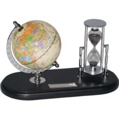 Набор с глобусом на черной подставке Время и мы