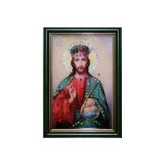 Икона с кристаллами Swarovski Христос Вседержитель