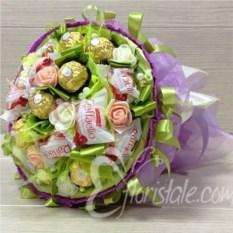 Фиолетовый букет из конфет Микс 17