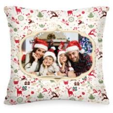 Именная подушка с вашим фото «Новогодняя»