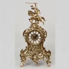 Часы  настольные из бронзы «Всадник» Virtus