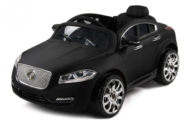 Чёрный матовый детский электромобиль Jaguar с управлением