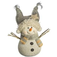 Фигурка Снеговик в шапке (6x 5,5x8,7 см)