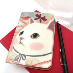 Обложка для паспорта White ribbon Cat
