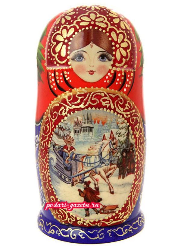 Набор русских матрешек Снежная королева