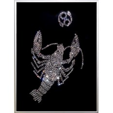 Картина с кристаллами Swarovski Рак 09