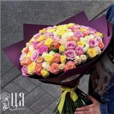 Букет из 101 розы сорта Кения