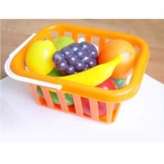 Набор пластмассовых игрушек Фрукты и овощи в корзине