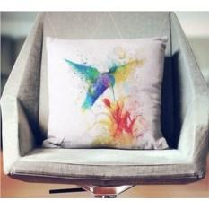 Декоративная наволочка Взрыв цвета: Колибри