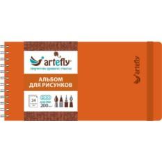 Оранжевый скетчбук Artefly
