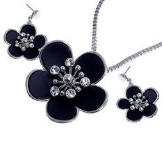 Комплект бижутерии «Королевские хризантемы»